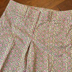 LOFT Patterned Julie Capri Pants